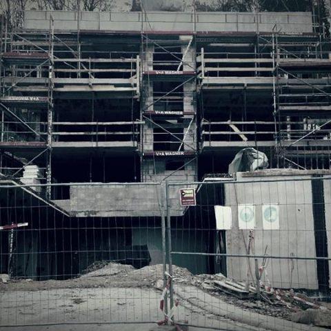 Würzburg com frio… estrutura em fase final!